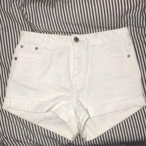£ove Tree White Jean Shorts